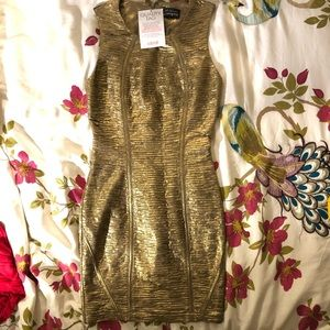 Golden bodycon/ cocktail dress